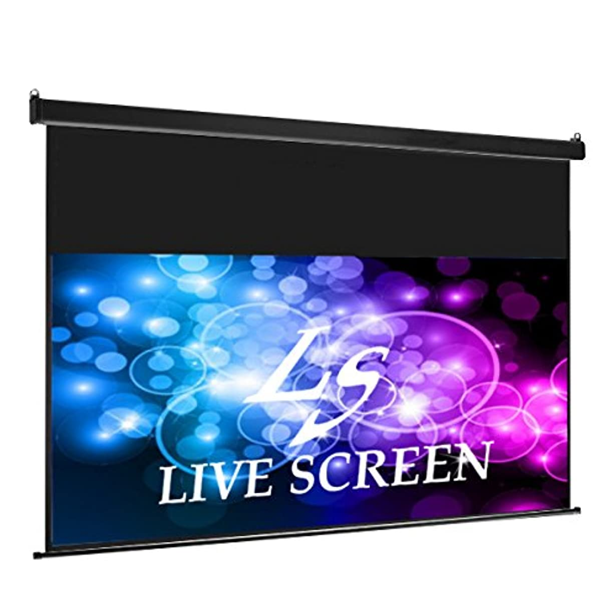 外部精神的に中央値LIVE SCREEN 16:9 120インチ ロングタイプ 電動格納 プロジェクタースクリーン …