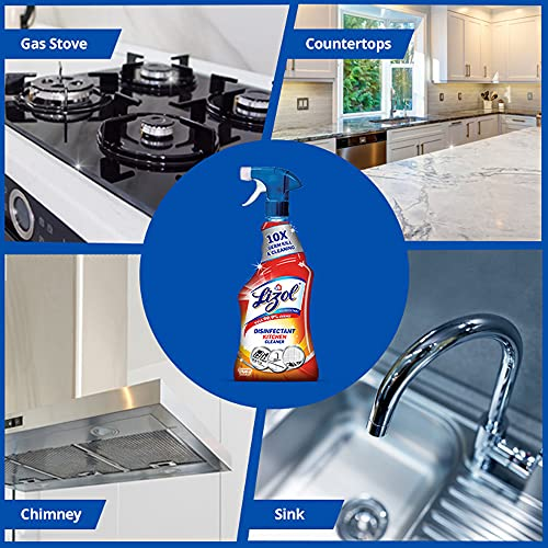 Lizol Kitchen Power Cleaner Liquid Spray 450 ml   Removes 99.9% germs   Cleans Stove, Chimney & Sink