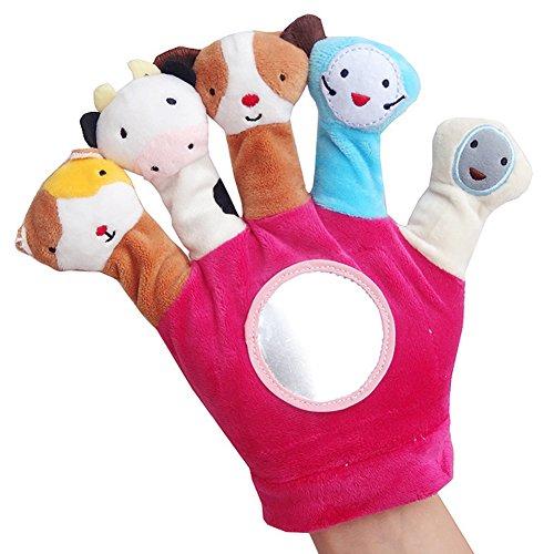 N/A NA Handschoenen Baby Leuke Cartoon Vinger Puppet Set Zachte Fluwelen Poppen Props Vroeg Onderwijs Speelgoed