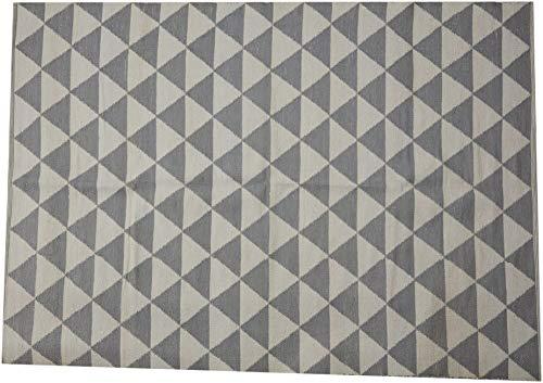 Jute & Co. Polyvinyl Chloride & Outdoor Tapijten Tapijt, Kleur-Grijs & Wit, Jute, One Size
