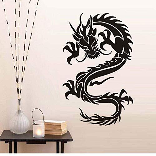 Muursticker Chinese cultuur draak symbolen van deugd en kracht muursticker S huisdecoratie verwijderbare vinyl behang sticker huisdecoratie 36 * 57 cm