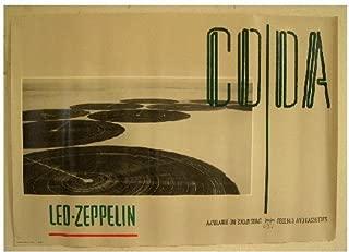 Led Zeppelin Poster Coda Cover Image Swan Song