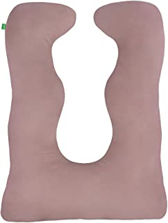 130 x 60 cm Seitenschl/äferkissen Bezug f/ür Schwangerschaftskissen LULANDO Kissenbezug Farbe: White Stars Lagerungskissen aus 100/% Baumwolle Red//Grey