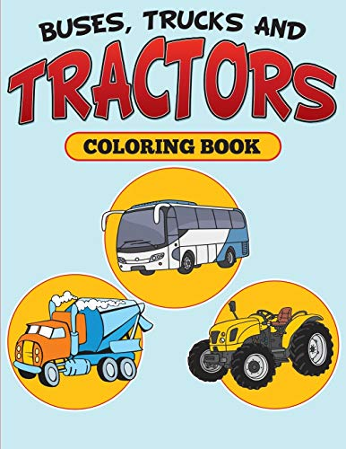 Buses, Trucks and Tractors Coloring B