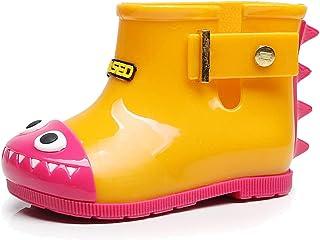Frelo Dinosaur Rain Boots Jelly Rubber Warm Toddler Rain Boots