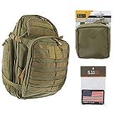 5.11 RUSH72 Tactical Backpack Med First Aid Patriot Bundle - Sandstone