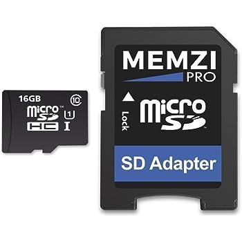 MEMZI Pro 16 GB 90 MB/s Clase 10 Tarjeta de Memoria Micro SDHC con ...