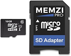 Memzi Pro 16GB Class 10 90MB/s Micro SDHC Memory Card with SD Adapter for Motorola Moto G Series Cell Phones