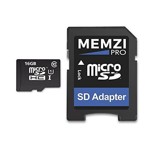 3d12b4c97 MEMZI PRO 16GB Class 10 90MB s Micro SDHC Memory Card with SD Adapter for