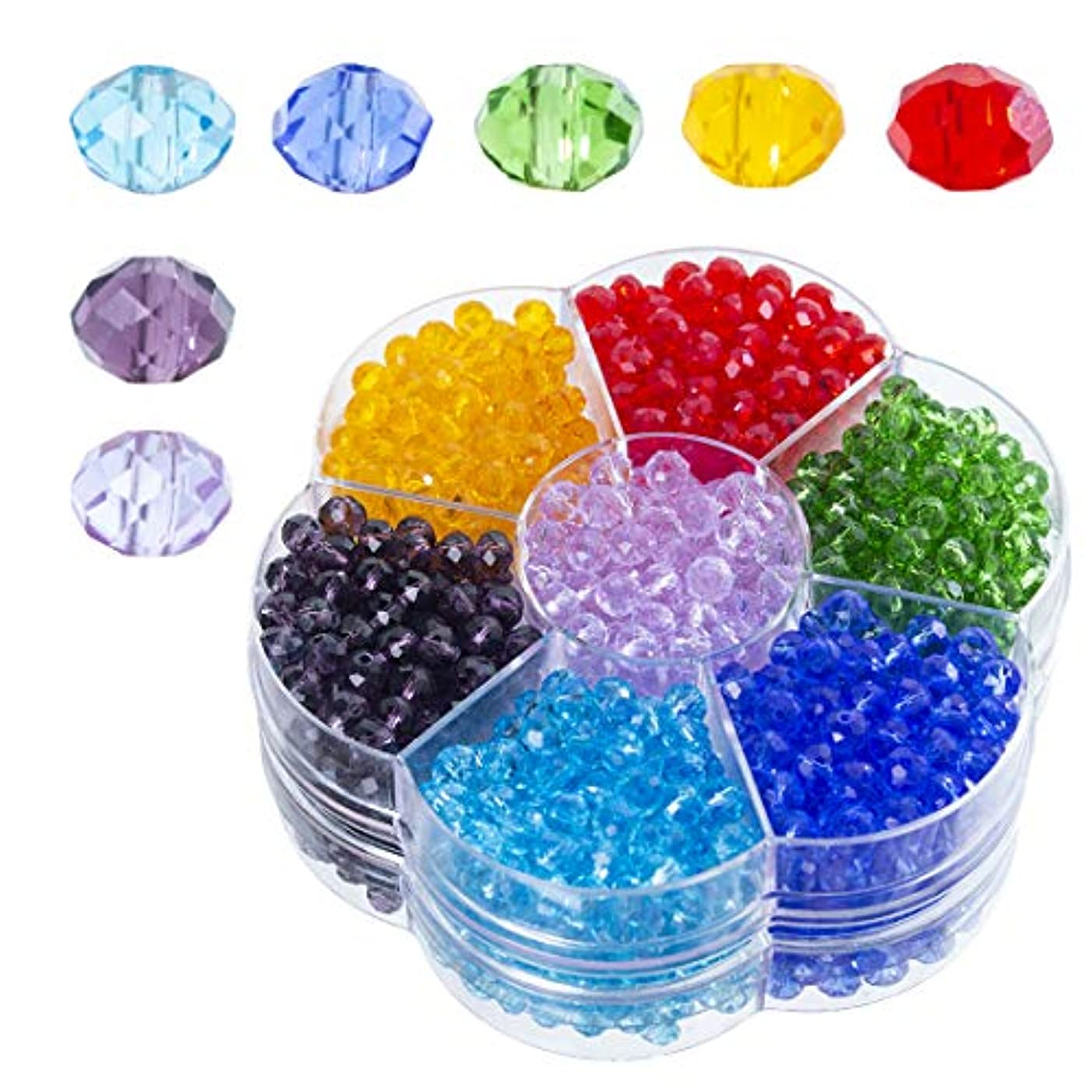 Wholesale 6mm Bicone Shaped Crystal Faceted Beads Jewelry Making Supply for DIY Beading Projects, Bracelets, Necklaces with Container Box (315PCS)