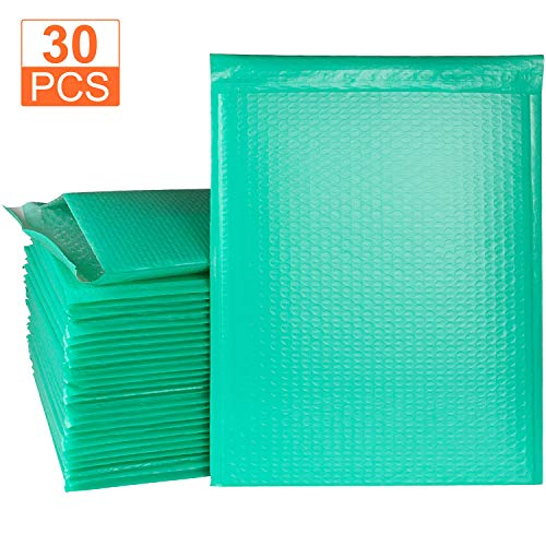 10.5 x 15 Bubble Mailer 30 Packs Teal Mailing Envelopes Padded Self Seal Poly Bubble Mailers #5 Padded Envelopes, Waterproof Shipping Envelopes by STARVAST