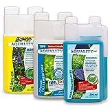 AQUALITY Aquarium 3er Starter- & Pflege-Sparset (Algenvernichter, Wasseraufbereiter, Filtermedium - Perfekter Start mit...