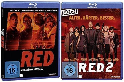 R.E.D. - Älter. Härter. Besser/R.E.D. 2 - Noch Älter. Härter. Besser im Set - Deutsche Originalware [2 Blu-rays]