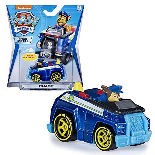 PAW PATROL Mini vehículos | Patrulla Canina | True Metal 1:55 | Die-Cast Classic Series, Figura:Metallic Chase
