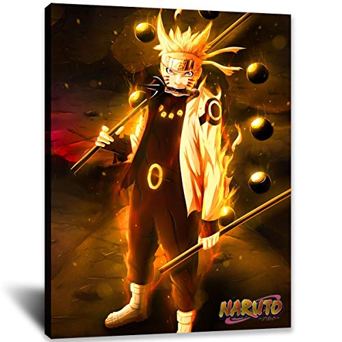 Naruto Poster Naruto Japanese Anime Posters Shippuden Manga Canvas Wall Art for Living Room Wall Decoration (16x24inch,Unframed)