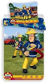 Jerry Fabrics Fireman Sam Character Children's Bedding with Zipper and 70 x 90 cm Pillow Case, Cotton, Multi-Colour, 200 x 140 x 0.5 cm
