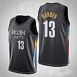 XXMM Camisetas para Hombre - NBA Brooklyn Nets # 13 James Harden - Camiseta De Baloncesto Camiseta Sin Mangas De Edición De Tela De Malla Transpirable, Cómoda De Llevar,M(170~175CM)
