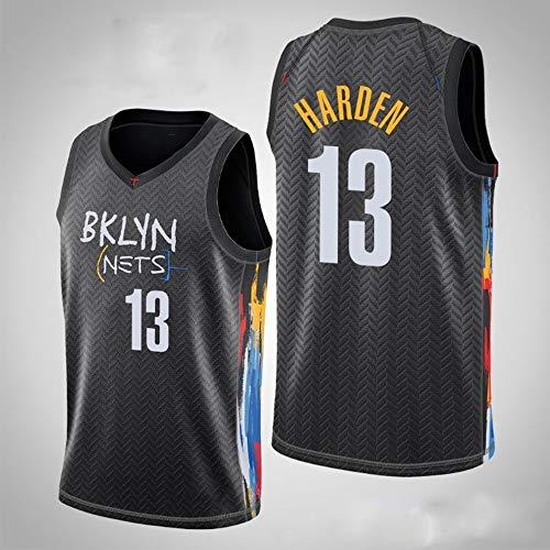 XXMM Camisetas para Hombre - NBA Brooklyn Nets # 13 James Harden - Camiseta De Baloncesto Camiseta Sin Mangas De Edición De Tela De Malla Transpirable, Cómoda De Llevar,S(165~170CM)