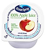 Ocean Spray 100% Apple Juice Cups, 4 Ounce (Pack...