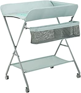 Changing Tables Xinjin Foldable Diaper Changing Station Baby Massage Care Newborn Baby Changing Clothes Table Green Gray