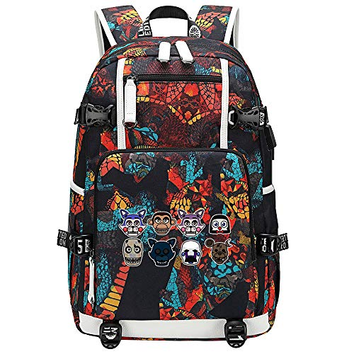 GOYING Five Nights at Freddy's Anime Laptop Backpack Bag Travel Laptop Daypacks Lightweight Bag with USB-D