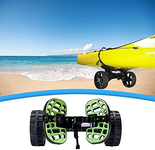 WXking Carrito de kayak portátil, carrito de la canoa, Carrito de ruedas, KAYAK? Carrito, robusto resistente, ajustable, desmontable, con neumático de goma, correa de hebilla, capacidad de carga 300 l