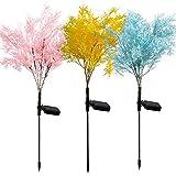 Luz solar Jardín LED-Césped-solar-Lámparas Remate Rose Lily Impermeable-IP66 600mAh Yarda Caza De Césped Luces de Boda al aire libre Impermeable (Emitting Color : Rime)