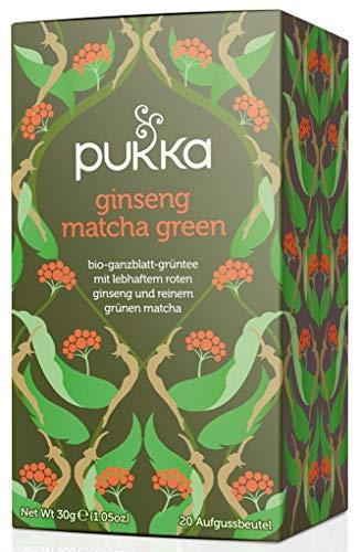 Ginseng Matcha Green PUKKA Tee BIO 4 Packungen à 20 Teebeutel