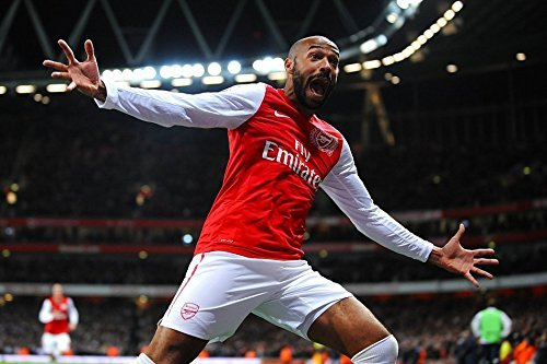 Tomorrow sunny Soccer Arsenal Thierry Henry Football Poster Art Wall Pictures for Living Room in Canvas Fabric Cloth Print