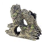 1 * Adornos artesanales pecera de Cristal Que Levanta la raíz de la casa de gambas Agujero de árbol Hueco