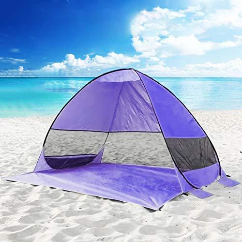 Tienda de campaña para playa de Topm, con apertura pop-up, portátil, totalmente automática, para camping, playa, protección contra el viento, 200 × 165 × 130 cm, color morado, tamaño 200x100x100cm
