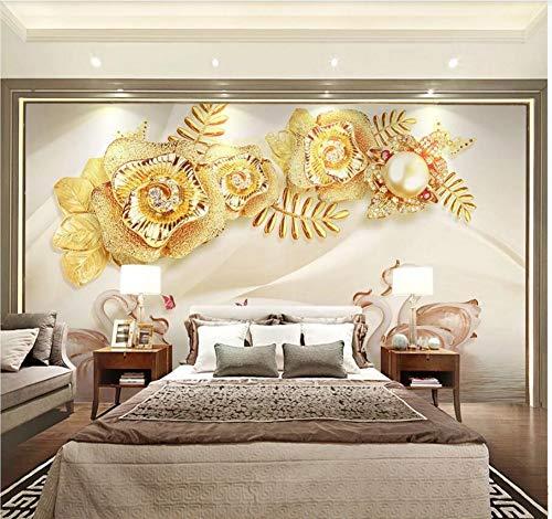 3D Papel Pintado Pared Infantil Vintage Flores pared moderna de la sala...