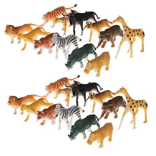 Toyvian 48 Piezas Animales Plástico Salvaje Modelos