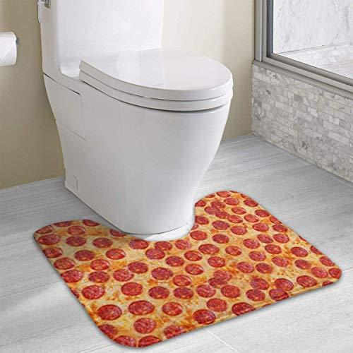 IMERIOi Pizza Texture WC Teppich Fußmatte rutschfeste Retro Outdoor Indoor Home Badezimmer U-förmigen Boden Teppichbezug