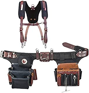 Occidental Leather 9596 Adjust-to-Fit Pro Electrician Tool Belt Set Bundle w/ 5055 Stronghold Suspension System (2 Pieces)