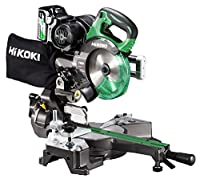 HiKOKI(ハイコーキ) 旧日立工機 コードレス卓上スライド丸のこ 36V マルチボルト 充電式 刃径165mm 両傾斜 最大八寸切断 リチウムイオン電池、急速充電器付※蓄電池保証書付 C3606DRB(XP)