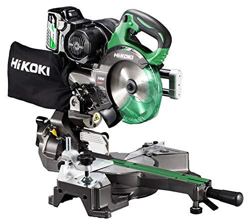 HiKOKI(ハイコーキ) 旧日立工機 コードレス卓上スライド丸のこ 36V マルチボルト 充電式 刃径165mm 両傾斜 最大八寸(245mm)切断 レーザーマーカー・LEDライト内蔵 畜電池・急速充電器・チップソー付き C3606DRB(XP)