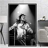 LGYJAL Michael Jackson Rip Musician King Star Pintura en Lienzo Carteles e Impresiones Imagen de Arte de Pared Decoración nórdica Decoración para el hogar 50x70 cm C-874