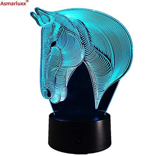 Pferd Pferd Nachtlicht 3D LED Tischlampe Kinder Geburtstagsgeschenk Nachtzimmer Dekoration