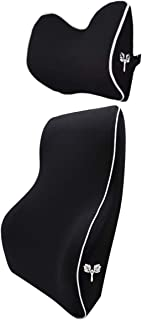 Grin Health SitRight Pro Orthopedic Backrest Lumbar Support Cushion And Headrest Neck Pillow Core For Car, Office (L Headr...
