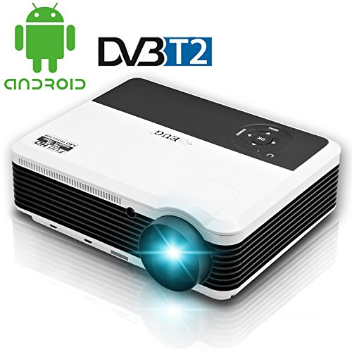 TV DIGITAL HD-T2 Lampe LED WiFi Beamer Full HD DTV HDMI USB