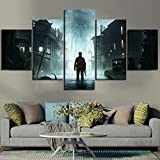 wokcl wall art 5 panel poster the sinking city modern living room immagine modulare decorazioni per la casa, senza cornice