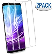 [2 - Pack] S9 Plus Screen Protector, [9H Hardness][Anti-Fingerprint][Ultra-Clear][Bubble Free] Tempered Glass Screen Protector Compatible with Samsung Galaxy S9 Plus