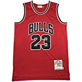 QJJ Camisetas De Baloncesto para Hombre, Chicago Bulls # 23 Michael Jordan Retro Loose Transpirable Chaleco 3-XL