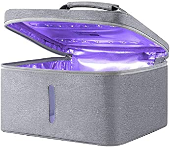 TOPQSC Esterilizador de Toallas UV, Bolsa de desinfección UV, USB LED portátil Recargable USB para biberón/Cepillo de Dientes/Herramientas de Belleza/joyería/Ropa Interior