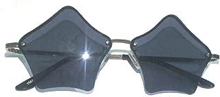 MINCL/Super Cute Star Shape Rimless Sunglasses Metal Frame Transparent Candy Color Eyewear