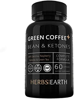 Green Coffee Bean 800mg 4-In-1 Formula with Raspberry Ketones, Garcinia Cambogia and Green Tea Extract Weight Loss Supplem...