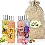 Un Air d'Antan Coffret Femme 4 Gels Douche Vintage Hydratants et Nourrissants – 4 Parfums...