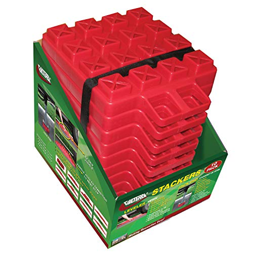 Valterra A10-0918 Stackers Multi-Use RV Leveling Pads (Pack of 10) , Red
