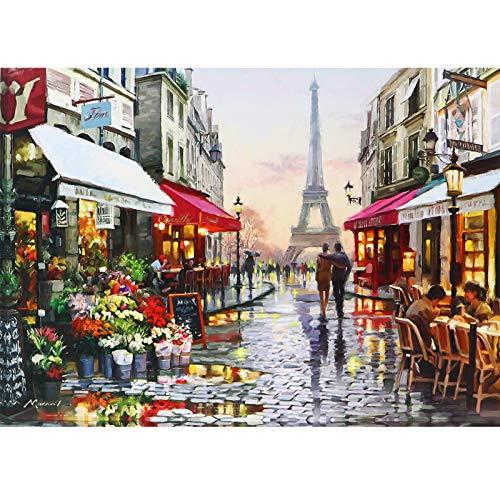Lunriwis Puzzles para Adultos, Puzzle 1000 Piezas, Puzzle París, Obra de Arte de Juego de Adulto Rompecabezas para Navidad